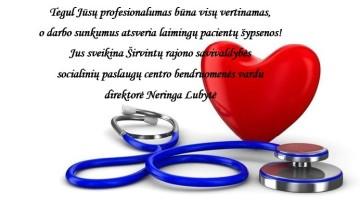 Sveikiname su Medicinos darbuotojų diena!